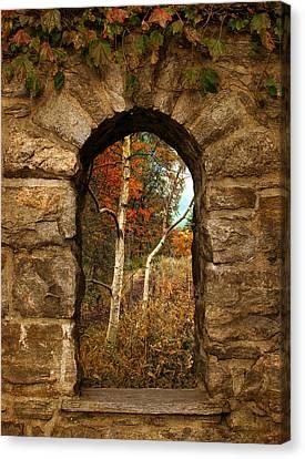 A Gimpse Of Autumn Canvas Print