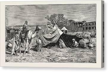A Gipsy Tent. Egypt Canvas Print