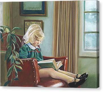 A Girl Reading Canvas Print