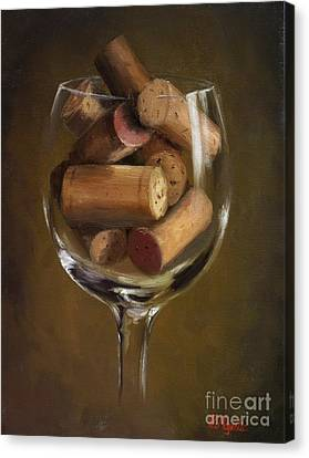 A Glass Of Cork Canvas Print