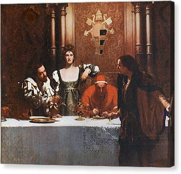 A Glass Of Wine With Caesar Borgia Canvas Print by Philip Ralley