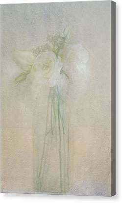 Canvas Print featuring the photograph A Glimpse Of Roses by Annie Snel