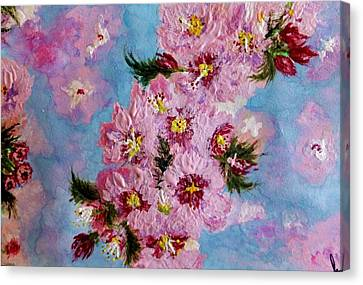 Canvas Print featuring the painting A Glimpse Of Spring... by Cristina Mihailescu