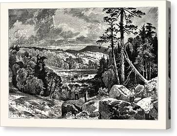 Thomas Moran Canvas Print - A Glimpse Of The Missisquoi. Usa. Missisquoi River by Canadian School