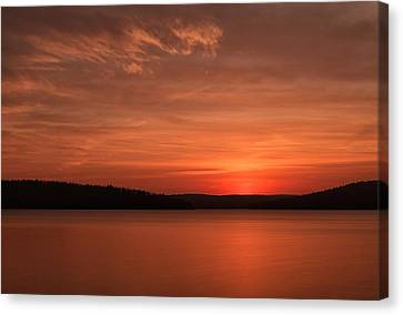 A Glorious Dawn Over The Quabbin As Seen From The End Of Old Enf Canvas Print