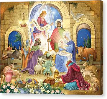 A Glorious Nativity Canvas Print