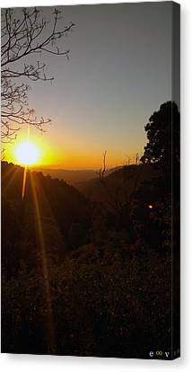 A Glorious Sunrise Over Nebo Canvas Print by Edwin Vincent