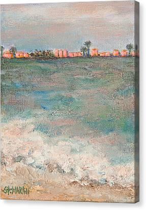 A  Glowing Sunrise Canvas Print by Annie St Martin