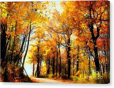 Painterly Canvas Print - A Golden Day by Lois Bryan