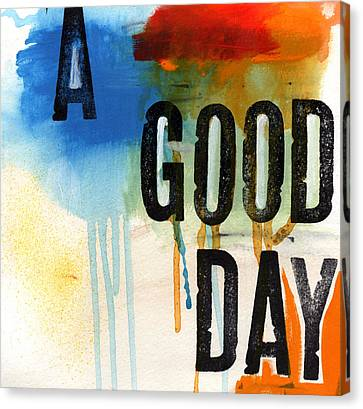 A Good Day- Abstract Painting  Canvas Print by Linda Woods