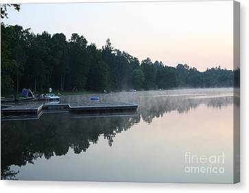 A Good Day For Canoeing Canvas Print by Steve Knapp