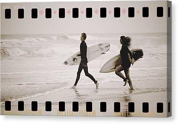 Canvas Print featuring the photograph A Good Day To Surf by Alice Gipson