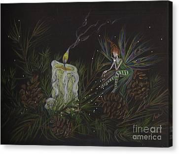 A Good Long Think Canvas Print by Dawn Fairies