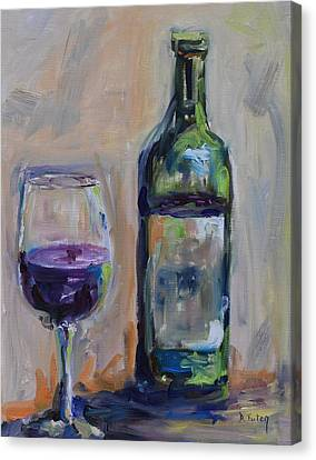 A Good Pour Canvas Print by Donna Tuten