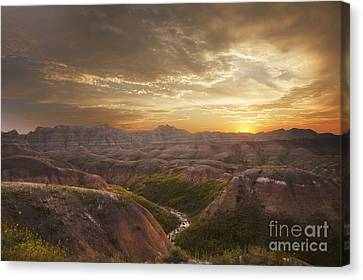 A Good Sunrise In The Badlands Canvas Print