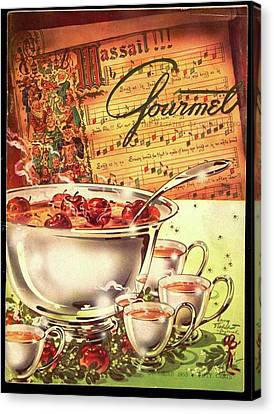 A Gourmet Cover Of Apples Canvas Print by Henry Stahlhut