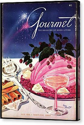 A Gourmet Cover Of Mousse Canvas Print by Henry Stahlhut