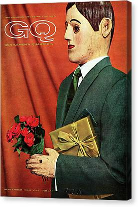 A Gq Cover Of A Hammonton Park Suit Canvas Print by Manuel Denner