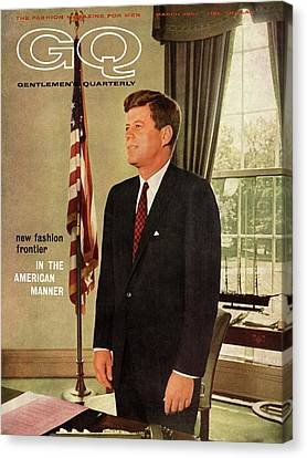 Residence Canvas Print - A Gq Cover Of President John F. Kennedy by David Drew Zingg