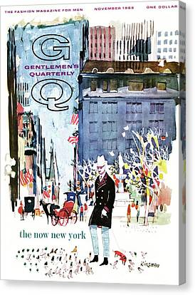 A Gq Cover Of The Plaza Hotel Canvas Print