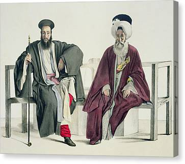 Orthodox Canvas Print - A Greek Priest And A Turk, Engraved by Louis Dupre