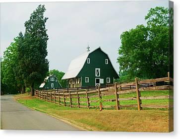A Green Barn Near President James Canvas Print