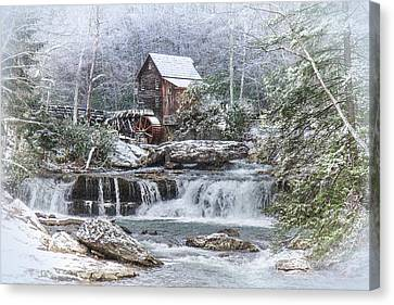 A Gristmill Christmas Canvas Print by Mary Almond