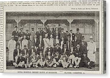 A Group Of Cricketers Canvas Print