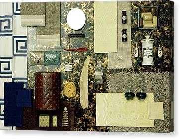 Domestic Bathroom Canvas Print - A Group Of Household Items by Geoffrey Baker