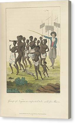 A Group Of Negros Canvas Print by British Library