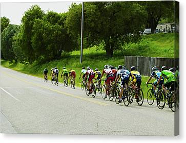 Bicycle Race Canvas Print - A Group Of Road Bicyclists Traveling by Panoramic Images