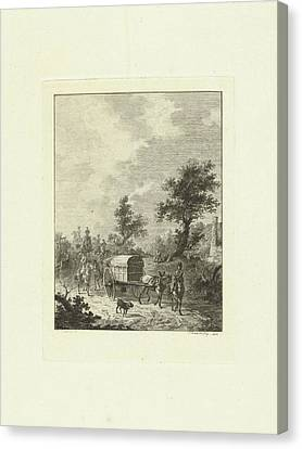 A Group Of Soldiers On Horseback, Joannes Bemme Canvas Print