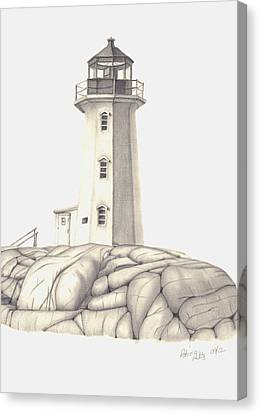 Canvas Print featuring the drawing A Guiding Light by Patricia Hiltz