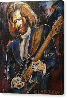 A Guitar God Speaks Canvas Print by John W Barth