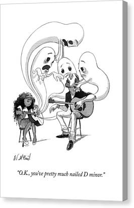 A Guitar Teacher Speaks To His Student Canvas Print