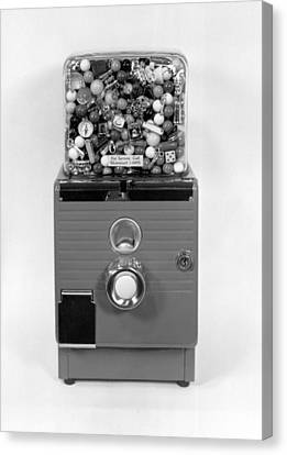 A Gumball Machine Canvas Print by Underwood Archives