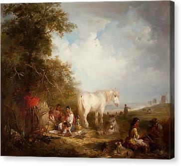 A Gypsy Scene Canvas Print