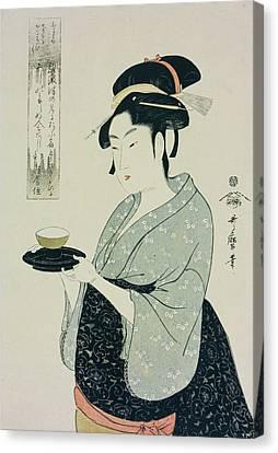 Half-length Canvas Print - A Half Length Portrait Of Naniwaya Okita by Kitagawa Utamaro
