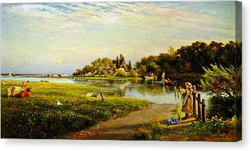 A Hampshire Ferry Canvas Print by Celestial Images