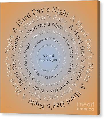 A Hard Day's Night 3 Canvas Print by Andee Design