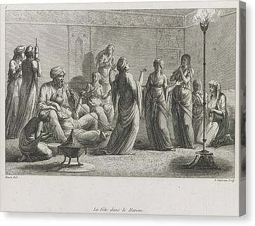 A Harem Canvas Print by British Library