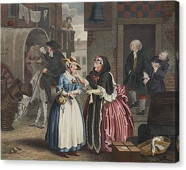 A Harlots Progress, Plate I Canvas Print