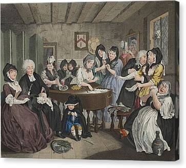 A Harlots Progress, Plate Vi Canvas Print