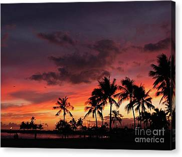 A Hawaiian Sunset 2 Canvas Print
