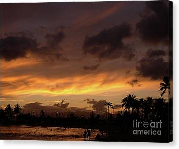 A Hawaiian Sunset Canvas Print