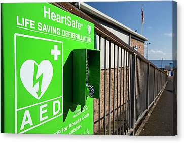 A Heartsafe Defibrillator Canvas Print by Ashley Cooper