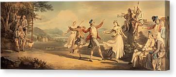 A Highland Dance Canvas Print by Mountain Dreams