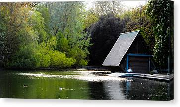 A Home By The Lake Canvas Print by Alex Rodriguez