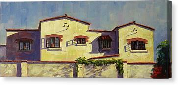 A Home In Barranco,peru Impression Canvas Print