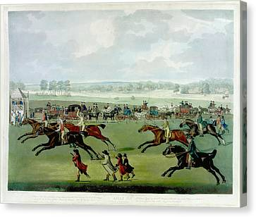 A Horse Race Canvas Print